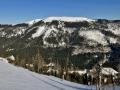 Blick zu Beginn auf die Schneealpe - dem Abschlussgipfel der Freine Reib'n